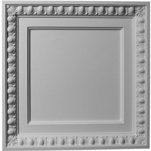 ekena millwork CT24X 24EG 24-inch W x 24-Inch H huevo y Dart azulejos de techo