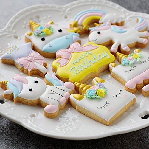 Anokay set Formine per Biscotti Unicorno , 12 pezzi Stampini per Biscotti  Unicorno , Elementi Decorativi Unicorno per Decorazioni Torte Dolci e  Decorazioni