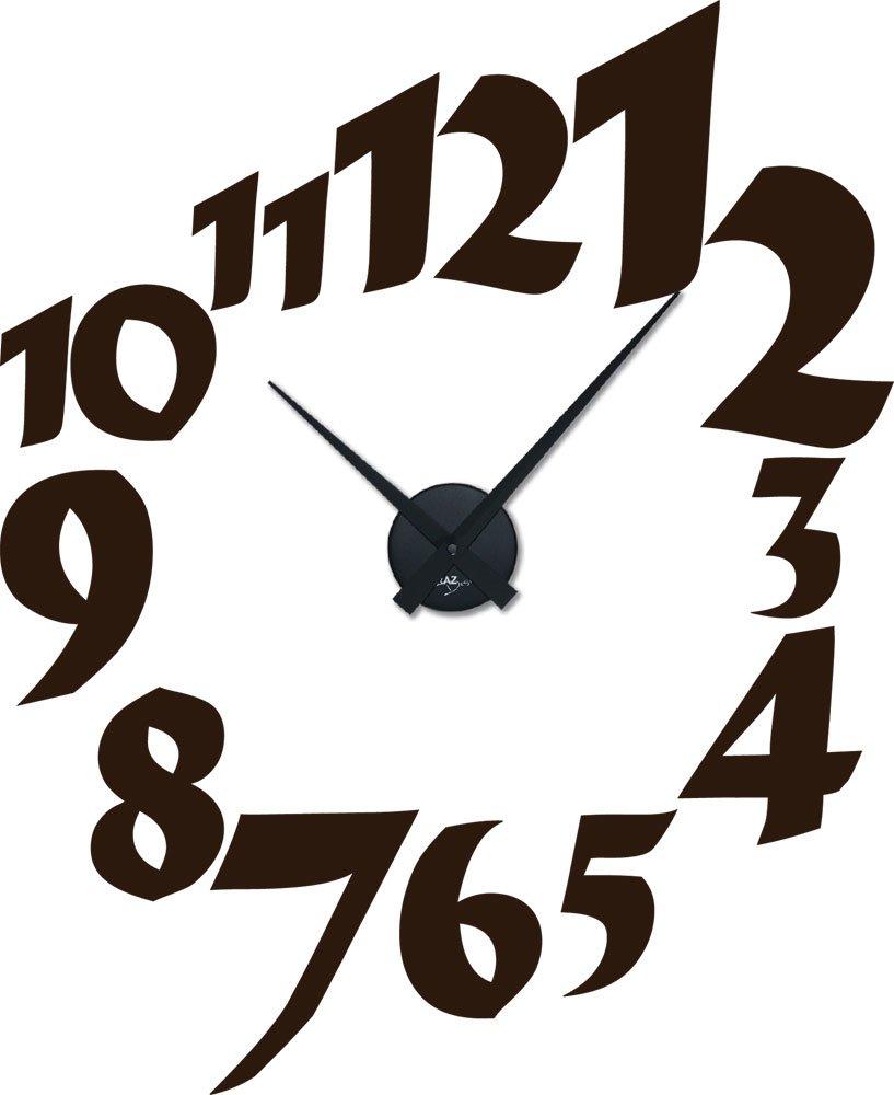 Amazonde Graz Design 800182 BK 080 Wandtattoo Uhr Wanduhr Modern Ziffern In Unterschiedlichen Gren