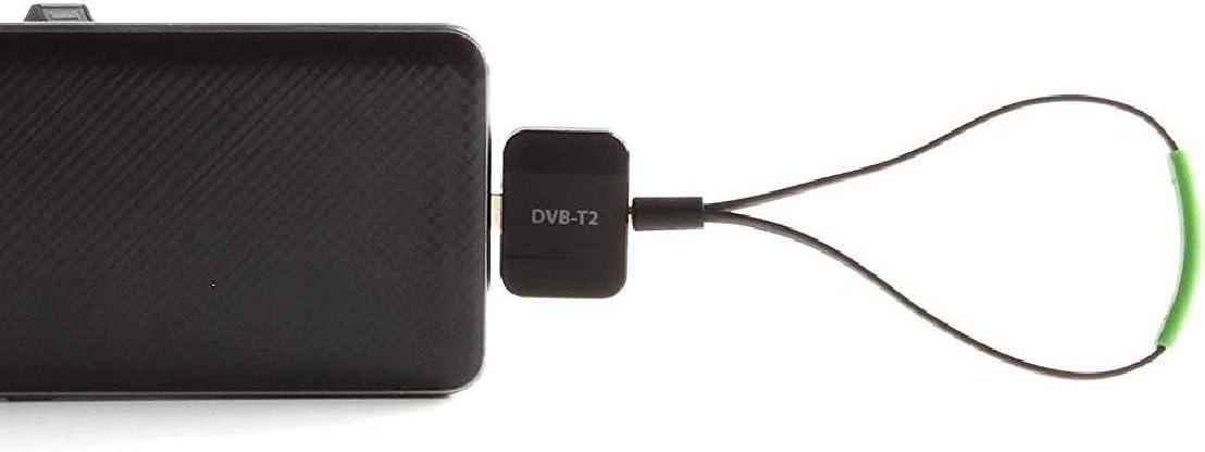 Maxxo Móvil Receptor TDT DVB-T2 para teléfonos Android y PC Windows Decodificador TV portátil Full HD H.265/H.264 sin Usar Datos!