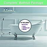 WOODBRIDGE Slipper Clawfoot Bathtub with solid