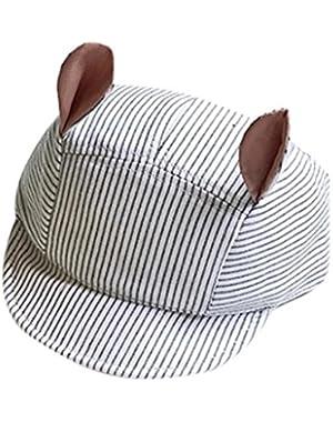 Sun Visor Hat, Baby Infant Newborn Boy Girl Cute Cat Ear Summer Sun Protection Hat Baseball Cap