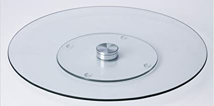 Superieur Oliver Smith   24 Inch Heavy Duty Dining And Kitchen Table Glass Lazy Susan  Turntable