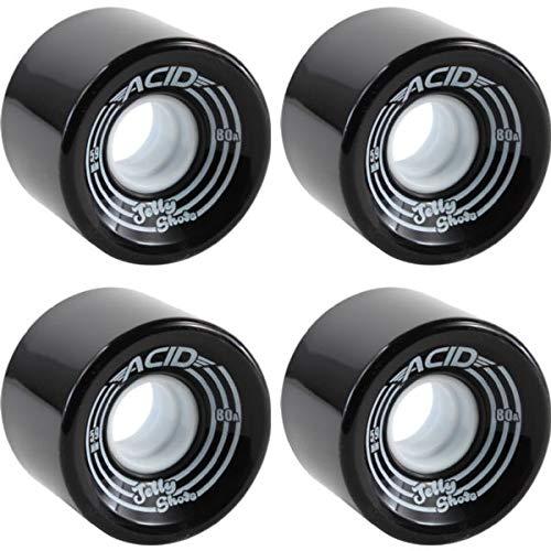 2019公式店舗 Acid Chemical 59mm Wheels ジェリーショットブラックスケートボードホイール - Acid Wheels 59mm 80a (4個セット) B07J3BC3GS, 宗像市:3849ef84 --- mvd.ee
