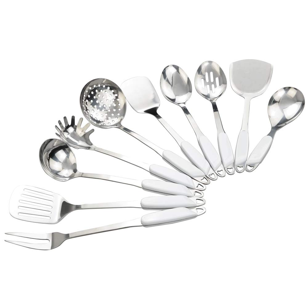 Joycky Stainless Steel kitchenware Cooking Sets, 10-Pieces Utensil Set Joyckys