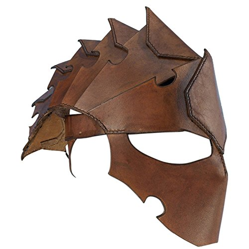 Armor Venue: Assasins Leather Helmet Head Armour Brown Large by Armor Venue