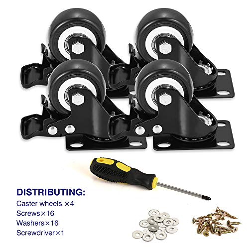 "BOSGEOT 2"" Caster Wheels, Heavy Duty Casters with"