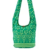 World End Imports Green Turtle Hobo Bag