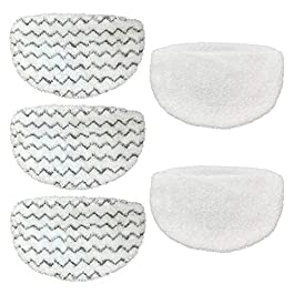 CKL&DJ 5 Pack Mop Pads Replacement for Bissell Powerfresh Steam Mop 1940 2747A 1440 1544 1806 2075 Series, Models 19402…