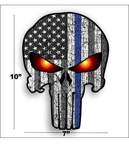 Blue line Punisher American Glowing