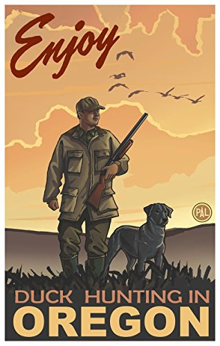 Enjoy Duck Hunting in Oregon Travel Art Print Poster by Paul A. Lanquist (12