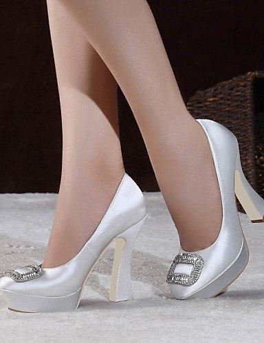ShangYi Chaussures de mariage - Noir / Rouge / Blanc / Champagne - Mariage / Habillé / Soirée & Evénement - Talons / A Plateau / Bout Fermé - , 4in-4 3/4in-black