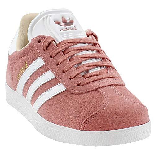(adidas  Women's Gazelle W, Ash Pearl/White/Linen, 8.5 M US)