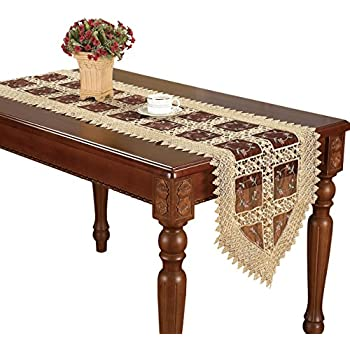 Amazon Com Jasmine Embroidered Lace Elegant Table Runner