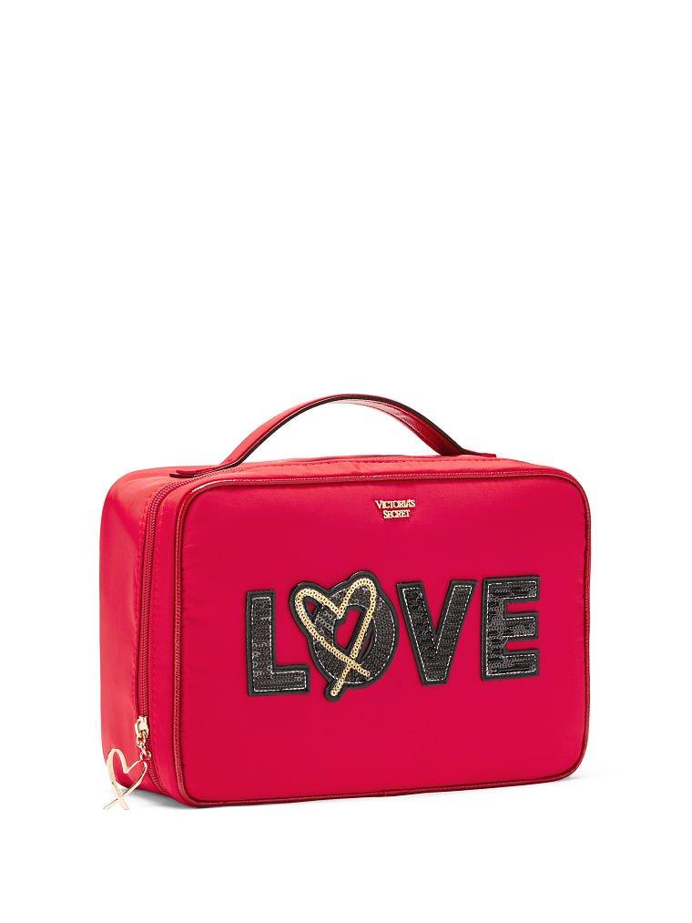 Victoria's Secret Runway Patch Jetsetter Travel Case Red