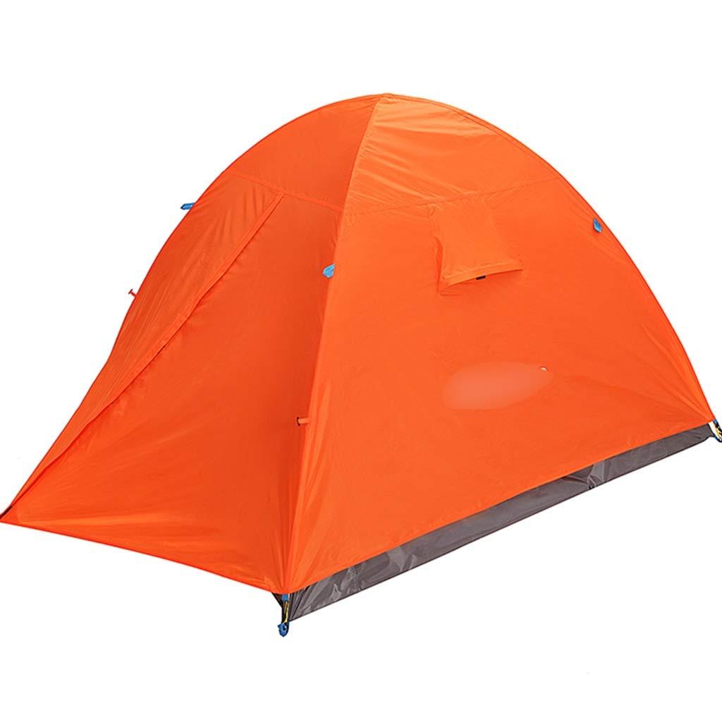 YaNanHome Im Freienzelt des Zeltes Doppeltes regendichtes Bequemes Zelt 2-3 Leute, die Zelt kampieren, Wandern Das Zelt Multi-Farbe wahlweise freigestellt (Farbe : Orange, Größe : 200  180  130cm)