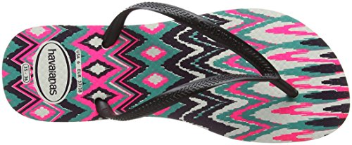 Multicolore pink Havaianas Tribal Infradito 1540 black white Donna Slim wtrrq0I