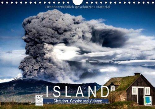 Island – Gletscher, Geysire und Vulkane (Wandkalender 2014 DIN A4 quer): Land der Trolle und Elfen (Monatskalender, 14 Seiten)