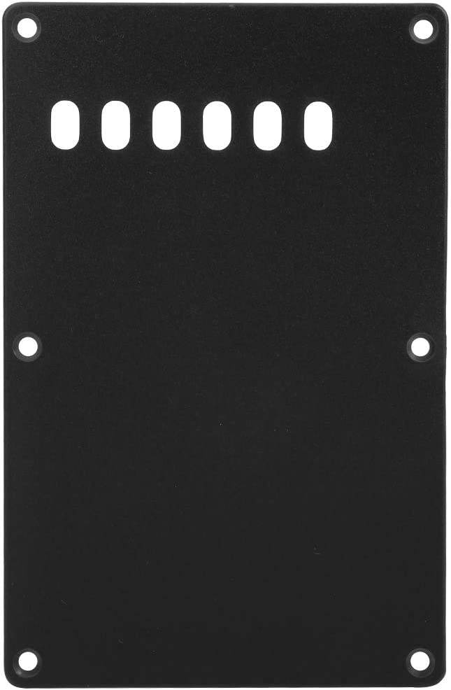 6-Hole Electric Guitar Backplate Cavity Cover Compatible with ST SQ Guitar Modern Style Electric Guitar