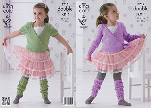 Ballet Knitting Patterns - King Cole Childrens DK Knitting Pattern Girls Ballet Cardigans & Leg Warmers (56cm-81cm)
