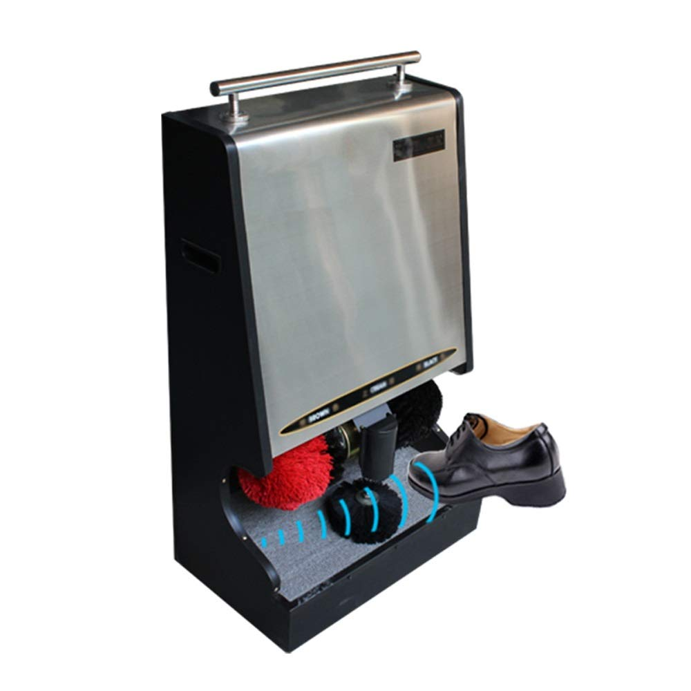 CL- Shoe Polisher Dual Motor Automatic Shoe Polisher, Suitable for Home and Public Places 530X340X910mm, Two Colors Optional Shoe Polisher (Color : B)