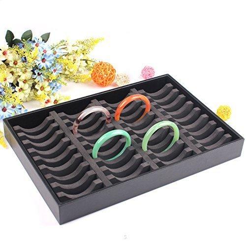 Bracelet Display Tray - Sant Fe Black Full Size Tray Insert 40 Bangle Bracelets Display Tray Jewelry Case