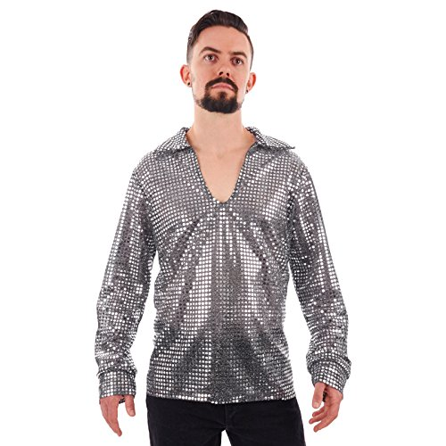 Men's Sequin Disco Shirt (X-Large, -