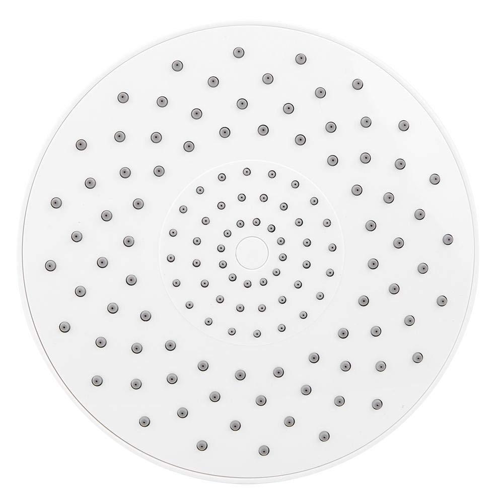 Material Abs G1 Cabezal de Ducha 2Rosca Superior Cabezal de Ducha Blanco Redondo Lluvia de Agua Sensaci/ón Cabezal de Ducha