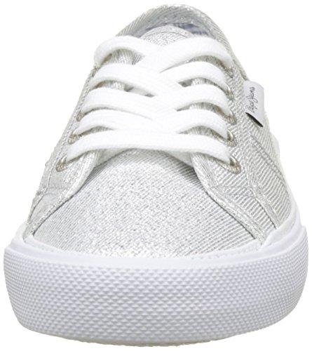 Pepe Jeans Damen Aberlady Fresh Sneaker Silber (argento)