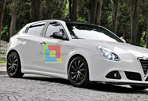 AUTOSRLS MINIGONNE Laterali COMPATIBILI con Alfa Romeo Giulietta sotto Porta Sportive ABS//Plastic
