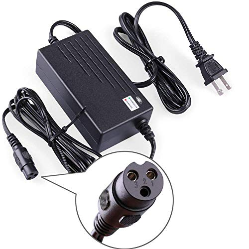 (LotFancy 24V 2A Scooter Battery Charger, for Razor E300, E200, E100, E125, E150, PR200, E225S, E325S, E175, E500, CC2420 Electric Scooter, MX350 Dirt Bike, Pocket Mod, UL Listed, Fast Charge)