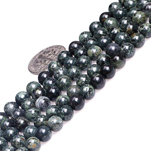 Rhyolite Kambaba Jasper Beads for Jewelry Making Natural Gemstone Semi Precious 6mm Round Dark Blue 15