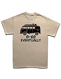 VW T1 0-60 mph Eventually Funny Bus V Dub Surf Classic T-shirt