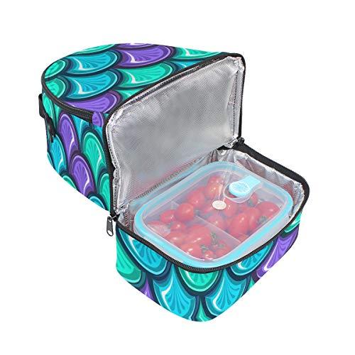 Scales avec réglable isotherme l'école Mermaid Sac Pincnic lunch Tote à pour Cooler bandoulière à Boîte Alinlo 5URHTx