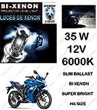 Volga Hid Xenon Head Light Kit For Suzuki Gixxer Sf H4 6000K Slim Ballast Super Bright