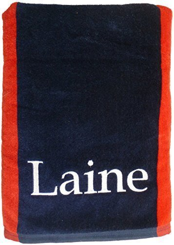 Custom Embroidered and Personalized Two Color Rugby Style Bath Sheet Size ()