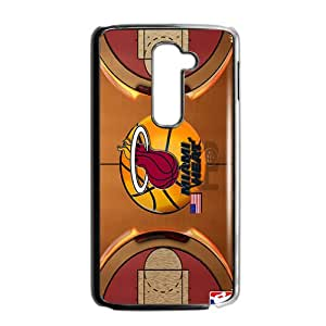 Miami Heat NBA Black Phone Case for LG G2 Case
