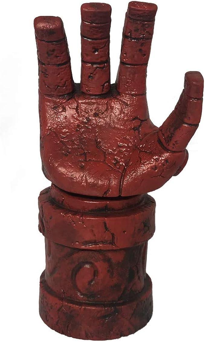 Men/'s Hellboy Fancy Dress Latex Mask Hand Glove Devil Halloween  Costume Prop