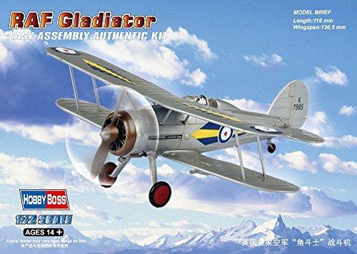 "HobbyBoss 1: 72échelle modèle ""RAF Gladiateur Kit (Gris)"
