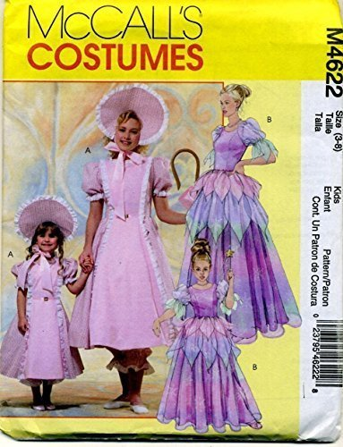 Mccall's Costumes Bo Peep, Princess, Fairy Sewing Pattern M4622 Size (Out Of Print Halloween Costume Patterns)