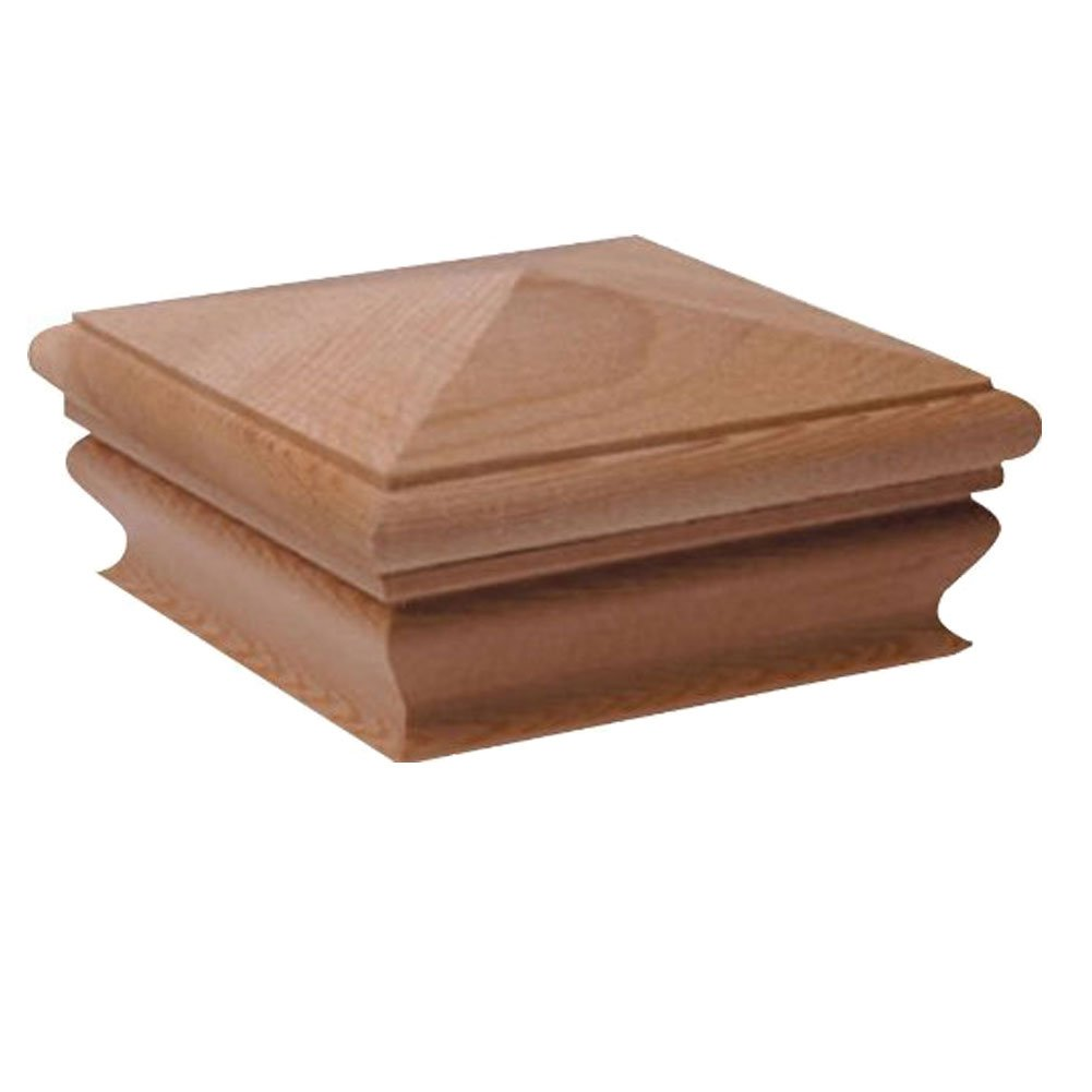 Woodway Products 870.1888 6-by-6-Inch Redwood Pyramid Post Cap, 8-Pack, Redwood