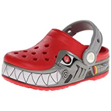 crocs CrocsLights Robo Shark PS Clog (Toddler/Little Kid),Red/Silver,8 M US Toddler