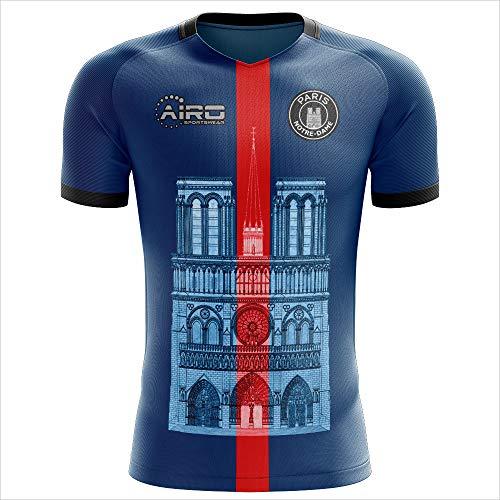 Airosportswear 2019-2020 Notre Dame Home Concept Football Soccer T-Shirt Jersey - Little Boys ()
