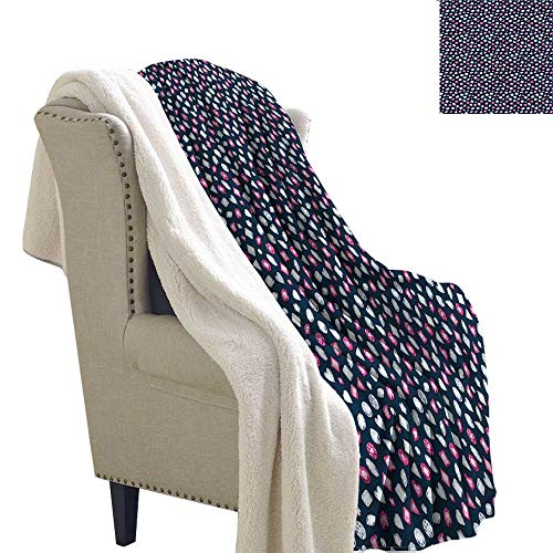 Zodel Travel Blanket Diamonds Crystals and Rubies Machine Washable and Drier Safe W59 x L47