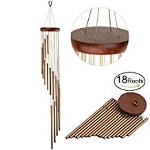 """YESURPRISE Wind Chimes Hanging Melody Bells for Outdoor Garden Home Decor Elegant Metal Wood Design Windchimes with Fair-Sounding Musical Scale Gifts for Kids Family - Inspirational Music Collection (35"""")"""