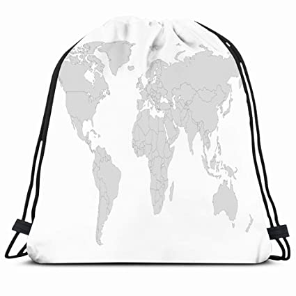 Outline Africa Geographical Map.Amazon Com Ahawoso Drawstring Backpack String Bag 14x16
