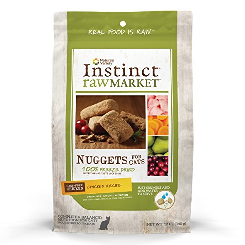 Instinct Freeze Dried Raw Market Grain Free Chicken Recipe Nuggets for Cats by Nature's Variety, 12 oz. ()