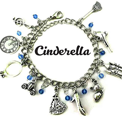 BlingSoul Cinderella Costume Jewelry For Girls - Silver Cinderella Bracelet Gifts Collection