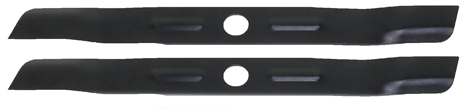 USA Mower Blades (2 BD19BP Low Lift Mulching Blade Replaces Black and Decker 905541433 Length 18 1/2in. Width 1 3/4in. Thickness .150in. Center Hole 1in.