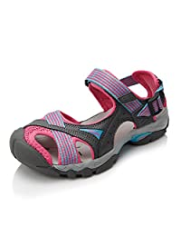 Clorts Women's Sport Sandals 80% PU/ 20% Mesh Athletic Sandals